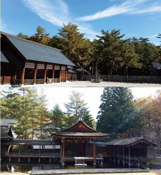 【身曾岐神社(山梨県北杜市)】 日本で最も美しい能舞台のある古神道神社です。